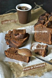 Calendrier jour 7 - Cake fondant - Ultra fondant au chocolat et crème de marron | Kaderick en Kuizinn