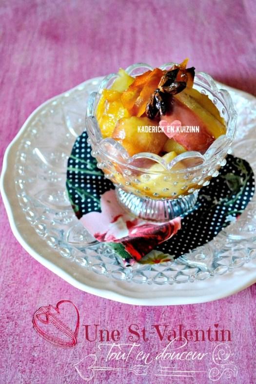 Dégustation compotee fruits - Recette fruits au four de Jamie Oliver | Kaderick en Kuizinn