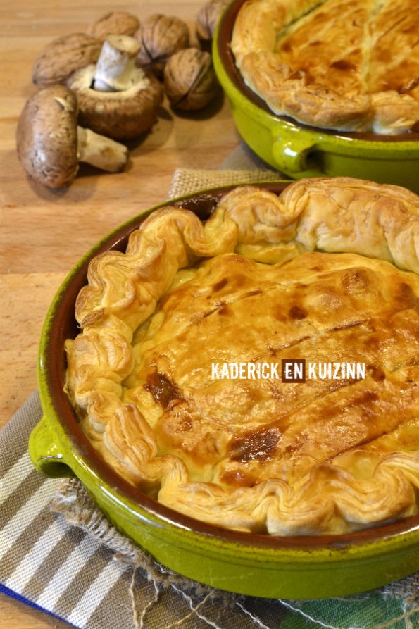 Dégustation tourte poulet, champignons et noix de Kaderick en Kuizinn