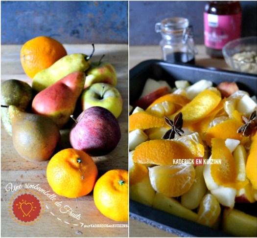 Ingrédients compotee fruits - Recette fruits au four de Jamie Oliver | Kaderick en Kuizinn