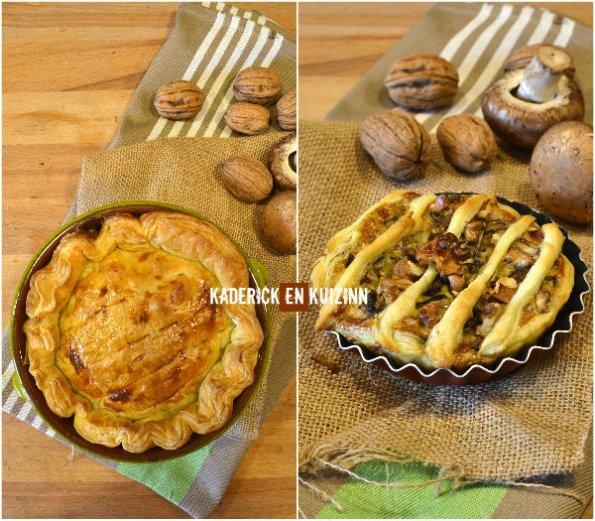 Présentation tourte poulet, champignons et noix de Kaderick en Kuizinn