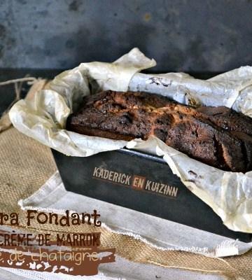 Cake fondant - Ultra fondant au chocolat et crème de marron