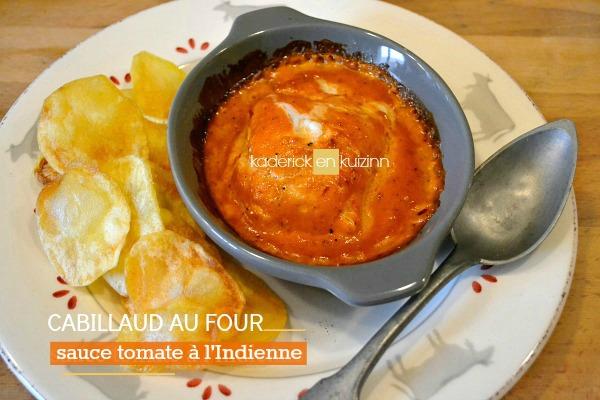 recette cabillaud poisson four sauce tomate indienne kaderick. Black Bedroom Furniture Sets. Home Design Ideas