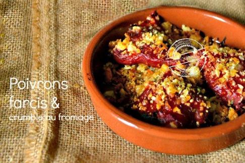 Slider Recette poivrons farcis crumble fromage amande