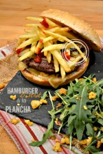 Dégustation hamburger bistrot - Recette plancha boeuf pomme paille chez Kaderick en Kuizinn
