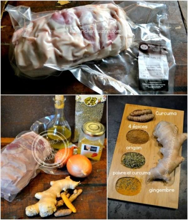 Préparation Agneau Paques - Rôti épaule d'agneau aux 4 épices chez Kaderick en Kuizinn