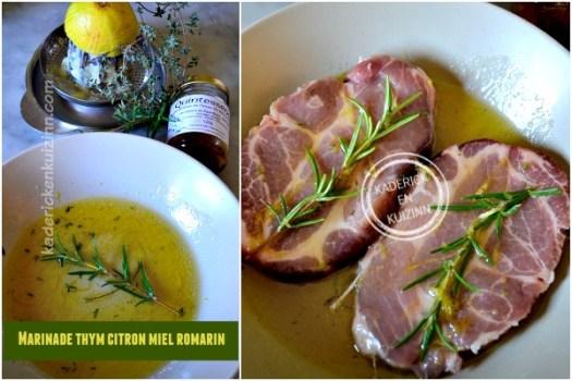 Recette marinade thym citron - Dossier marinade et plancha côte boeuf chez Kaderick en Kuizinn