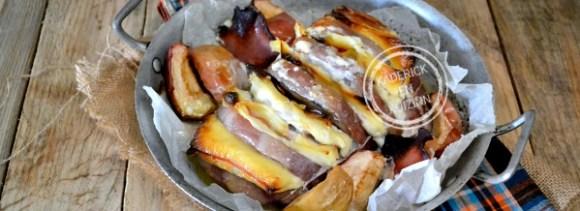 Présentation roti porc - Recette roti orloff avec restes de raclette chez Kaderick en Kuizinn
