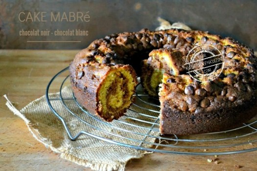 Recette cake marbre - Cake savane mi chocolat noir mi chocolat blanc