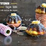 Recette muffins banane - Recette muffins tatin banane coco chez Kaderick en Kuizinn