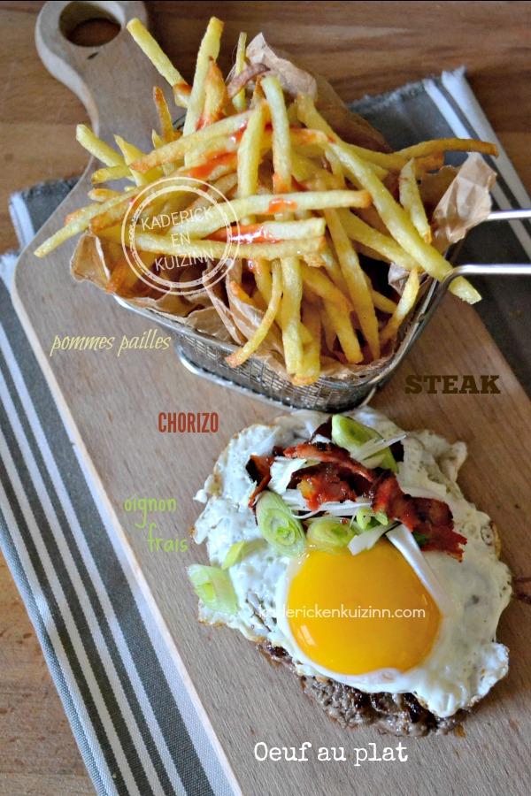 Dégustation steak plancha - Steak à cheval cuisson œuf plancha chez Kaderick en Kuizinn