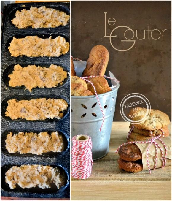 Préparation Barres cookies - Cookies aux noisettes et chocolat chez Kaderick en Kuizinn