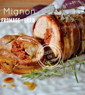 Recette Filet porc - Filet mignon porc farci chorizo fromage chez Kaderick en Kuizinn