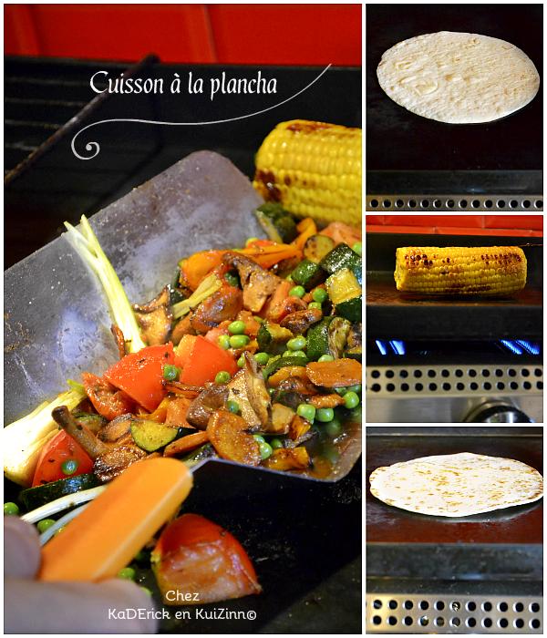 Cuisson plancha legumes - Recette légumes grillés mexicaine chez Kaderick en Kuizinn