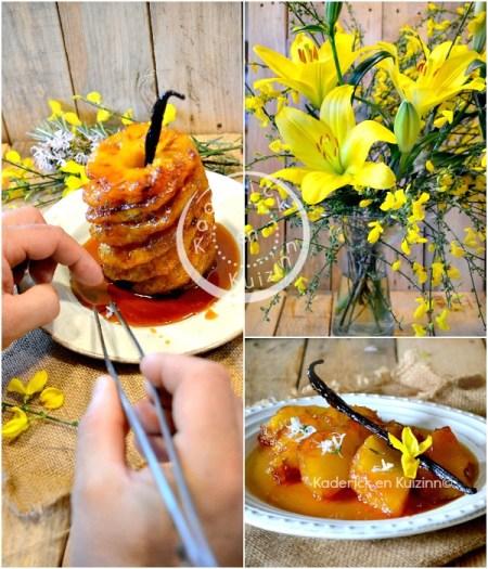 Décoration ananas roti - Ananas roti entier four caramel vanille chez Kaderick en Kuizinn©