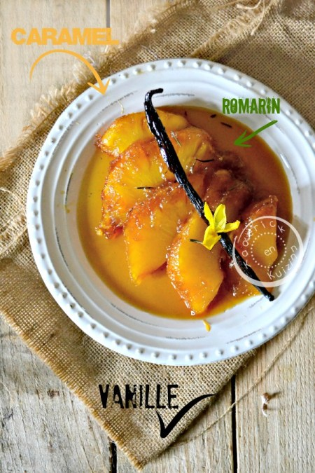Dégustation ananas roti - Ananas roti entier four caramel vanille chez Kaderick en Kuizinn©