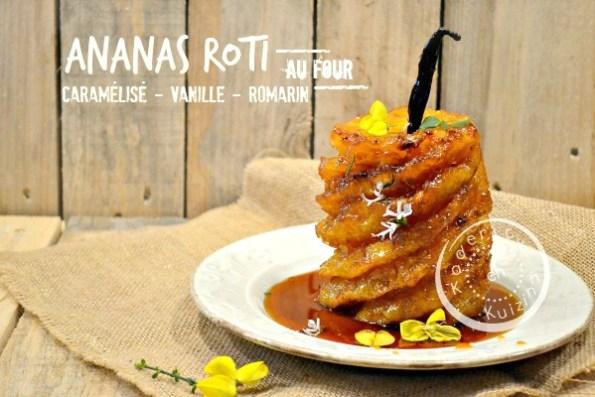 Recette Ananas roti - Ananas roti entier four caramel vanille chez Kaderick en Kuizinn©