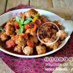 Recette Boulette saucisse sauce tomate Omnicuiseur V6000 chez Kaderick en Kuizinn©
