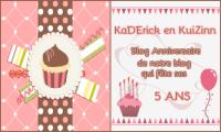 Logo Blog anniversaire - Notre blog Kaderick en Kuizinn fête ses 5 ans