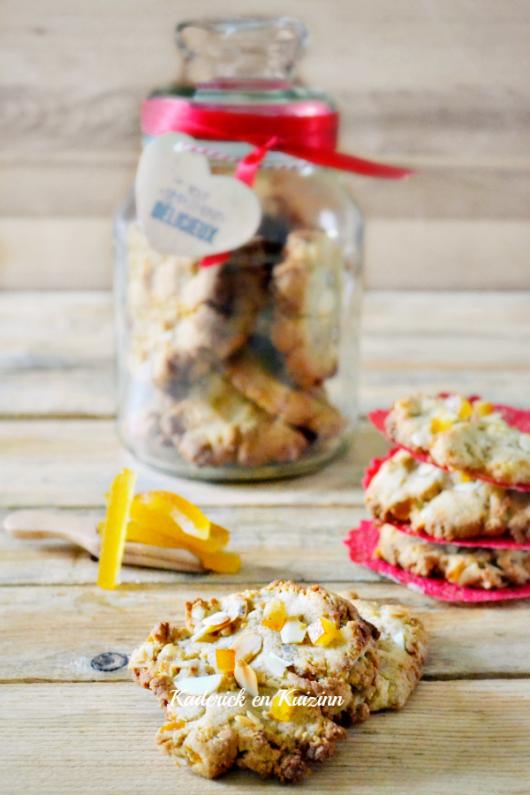 Dégustation cookies confits - Cookies citron et orange confits amandes chez Kaderick