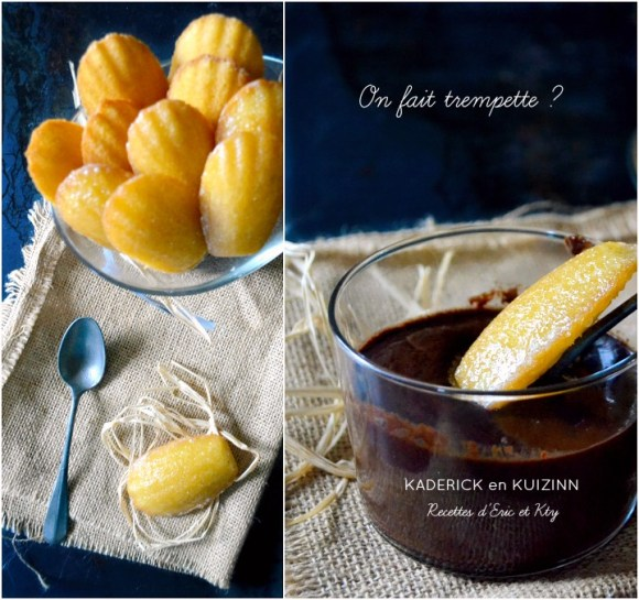Madeleines glacées au citron, vanille et coeur de miel Michalak