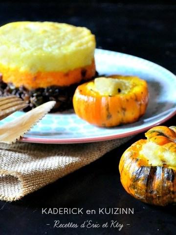 Recette petite courge hachis parmentier potimarron carotte