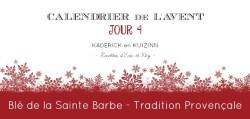 Calendrier de l'Avent 2015 jour 4 blé sainte barbe tradition provençale