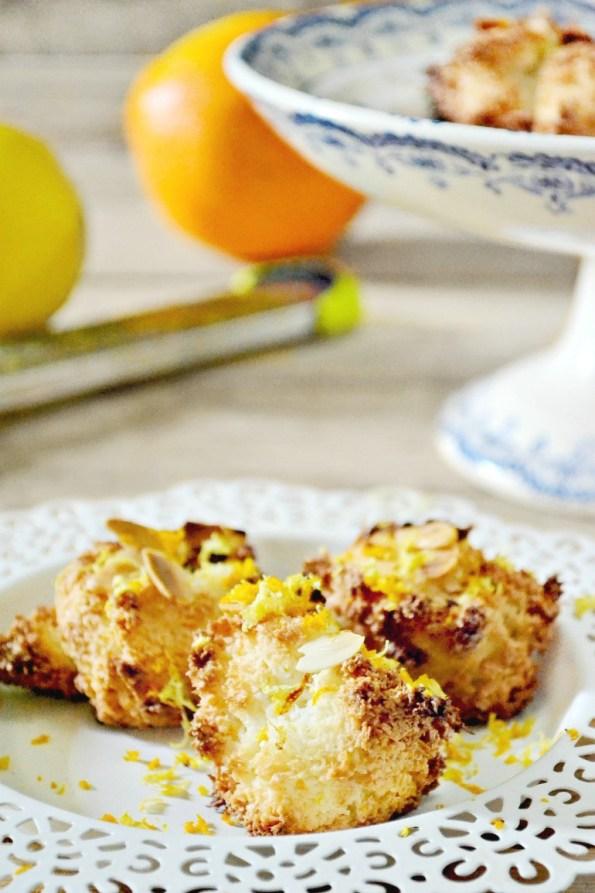 Rochers amandes zestes citrons oranges à partager
