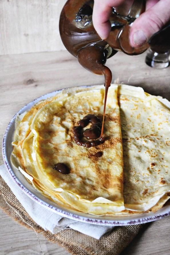 Caramel beurre salé gianduja crepes