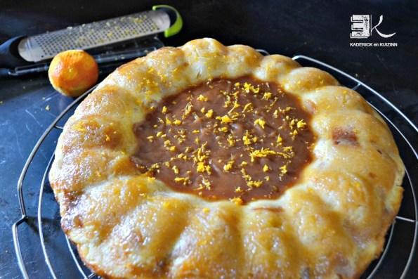 Gâteau pudding aux pommes caramel beurre clémentine