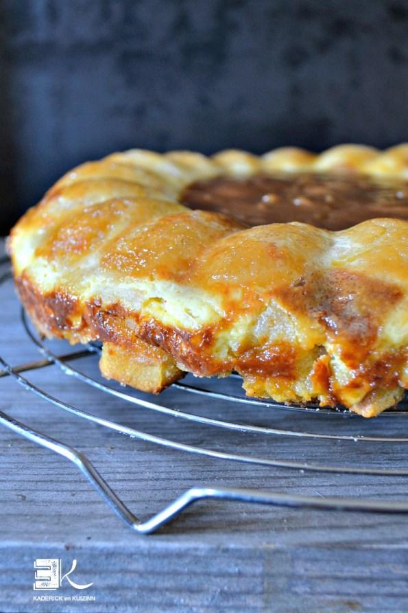 Gâteau pudding pommes caramel jus clémentine