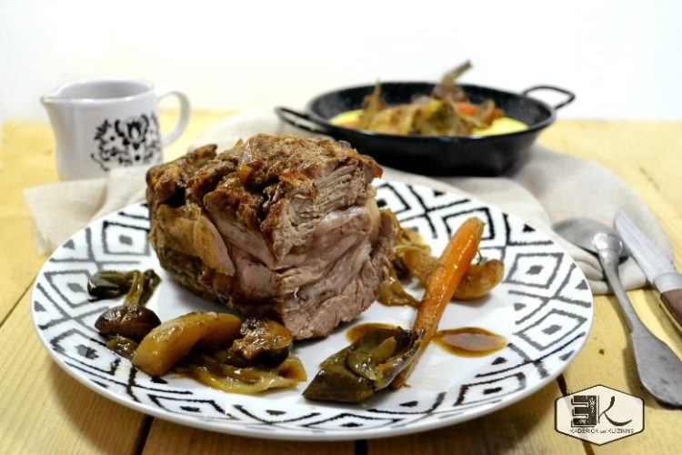 Rôti veau façon navarin et légumes au cidre - Kaderick en Kuizinn