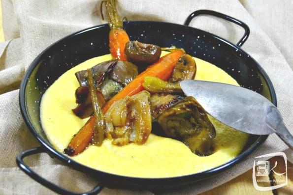 Recette polenta crémeuse aux légumes printaniers - Kaderick