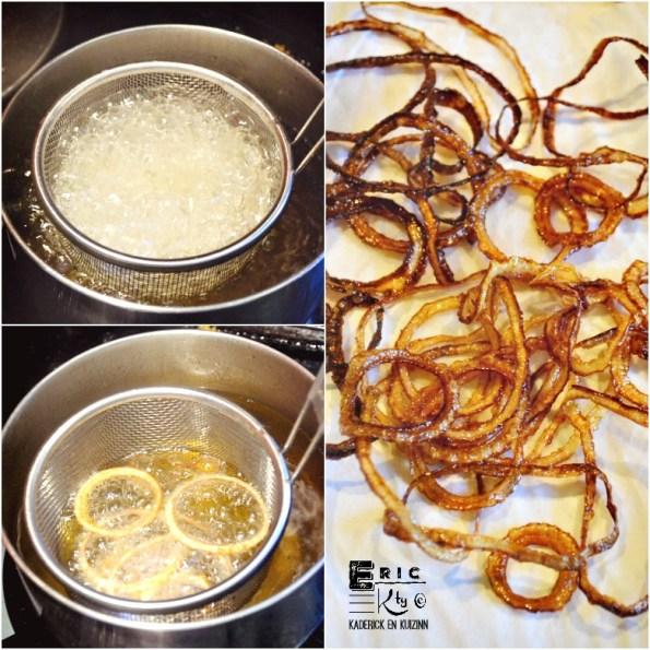 Cuisson rondelles oignons blancs huile olive - Kaderick en Kuizinn