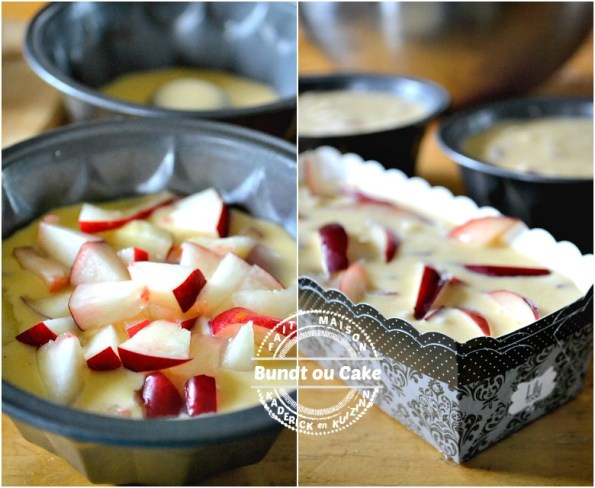 Préparation Bundt cake - Muffins ou cake moelleux de nectarines | Kaderick en Kuizinn