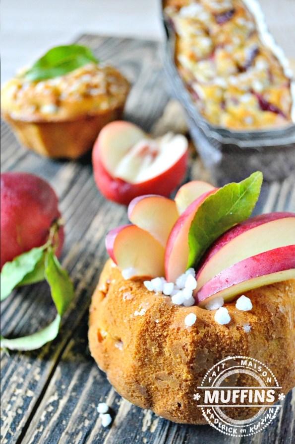 Recette Bundt cake - Muffins ou cake moelleux de nectarines | Kaderick en Kuizinn
