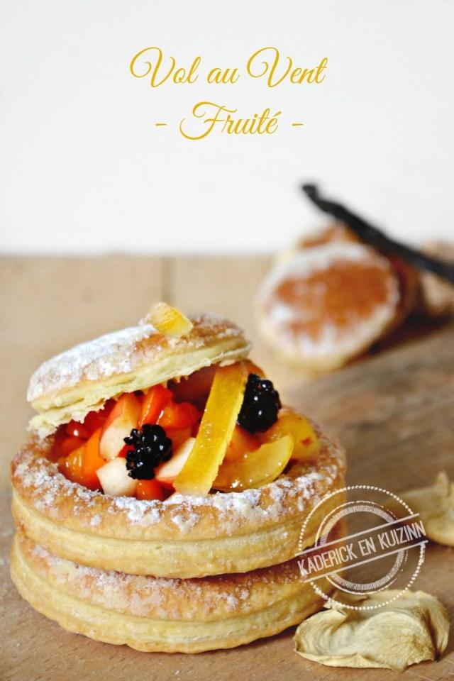 vol au vent dessert feuillete fruits d'été citron confit | Kaderick en Kuizinn