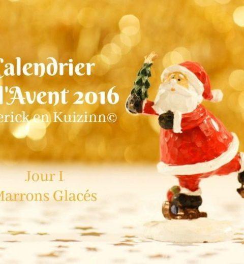 calendrier jour 1- calendrier de l'avent 2016
