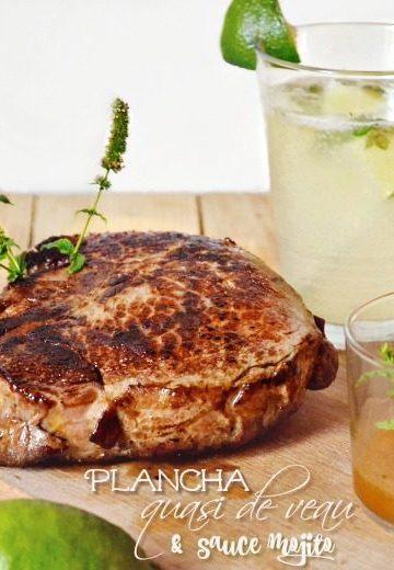 Quasi veau plancha grillé et sauce mojito Kaderick en Kuizinn