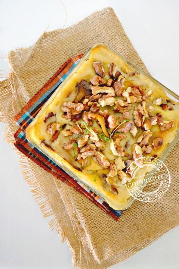Calendrier jour 3 lasagne fraîche cèpes girolles noix