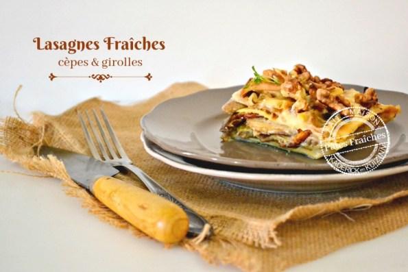 recette lasagne fraîche aux cèpes et girolles