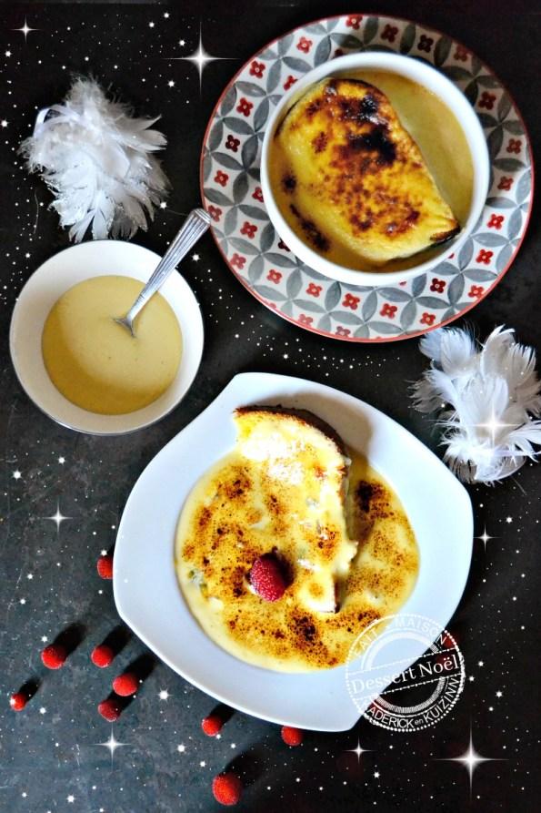recette sabayon de Noël fruits exotiques et panettone