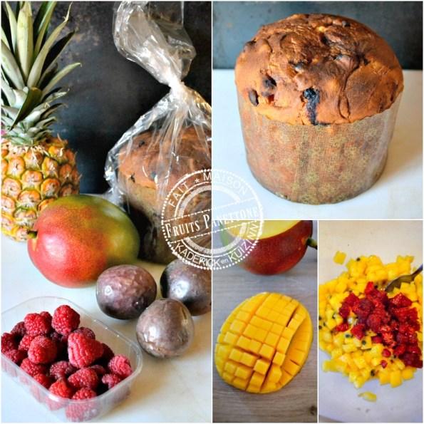 Recette sabayon fruits de la passion, mangue, ananas, framboise et panettone