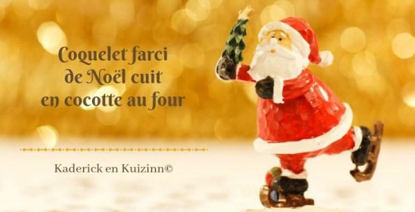 Calendrier jour 6 - calendrier de l'avent coquelet farci Noël
