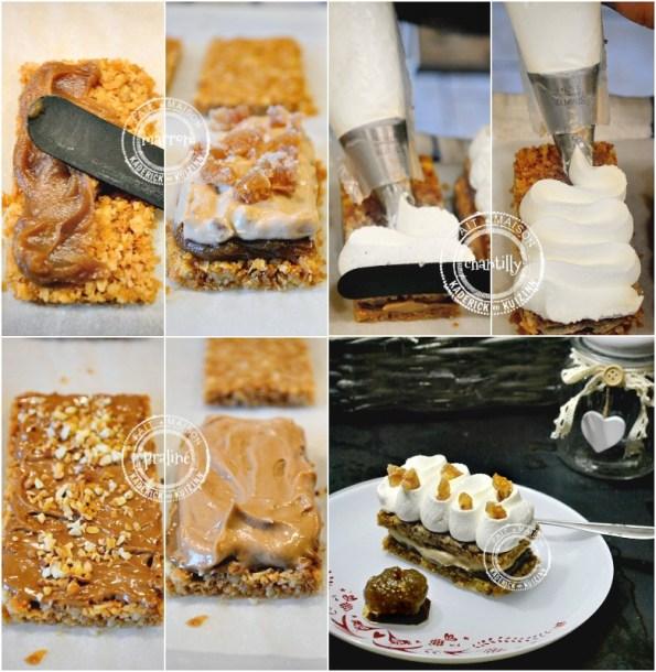 montage recette cheesecake biscuit crème marron ou praliné