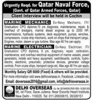 Qatar Naval Force Vacancy