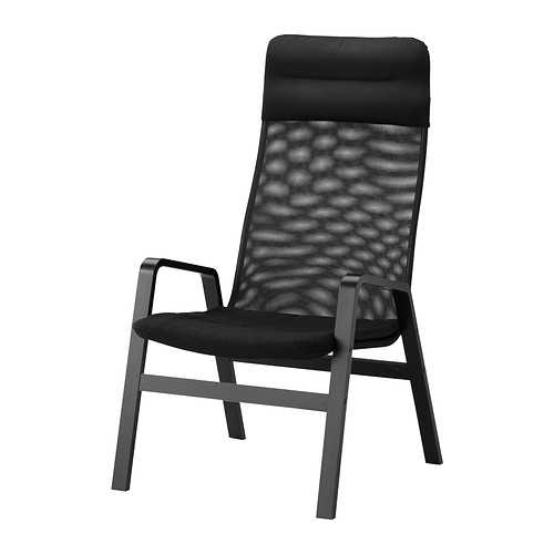 nolbyn fauteuil haut noir noir ikea
