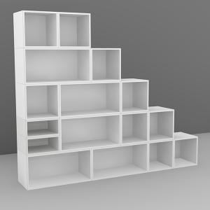 meuble bibliotheque escalier kadolog