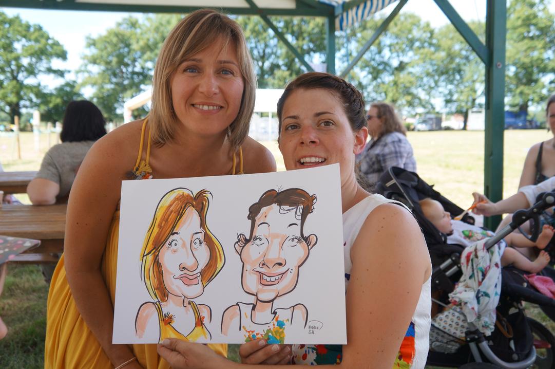 Mariage en caricatures d'Aline et Thomas