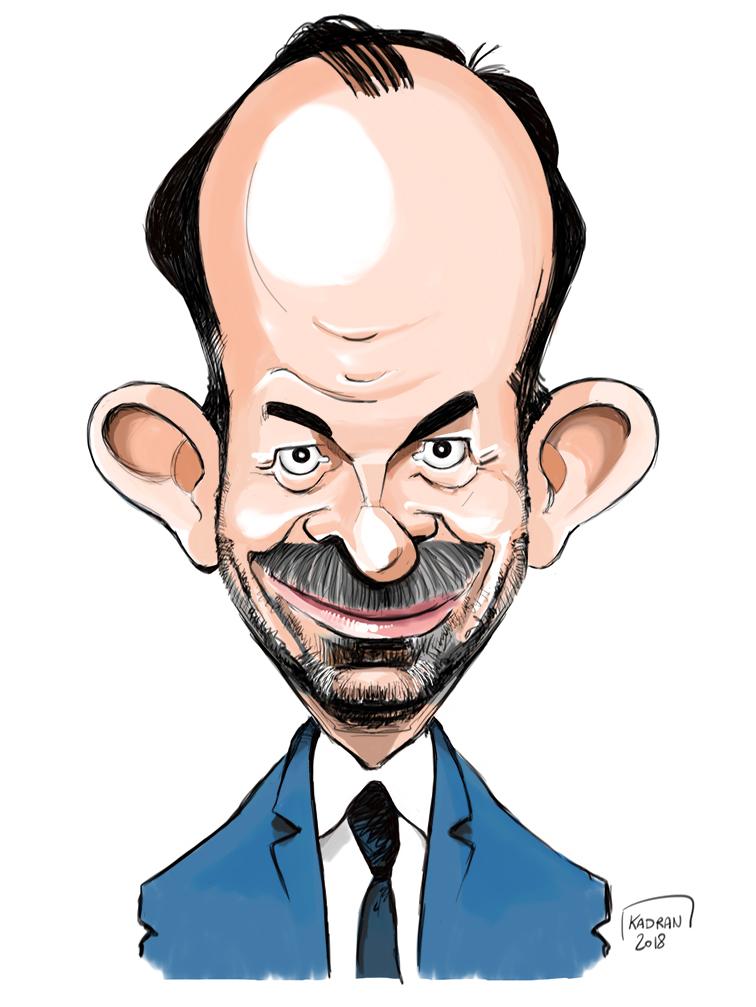 Édouard Philippe caricature